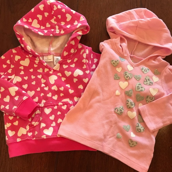 cheaper on feet shots of latest discount Shirts & Tops | Bundle Of Two Pink Heart Hoodies | Poshmark